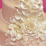 Wedding Cake with Detailed Sugar Flower