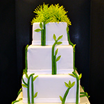 Grass/Plant Inspired Wedding Cake