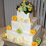 Box Cake with Yellow Flowers